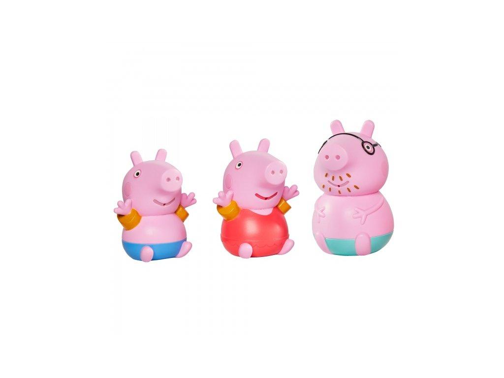 TOOMIES - Prasátko Peppa, tatínek a Tom - stříkající hračky do vody
