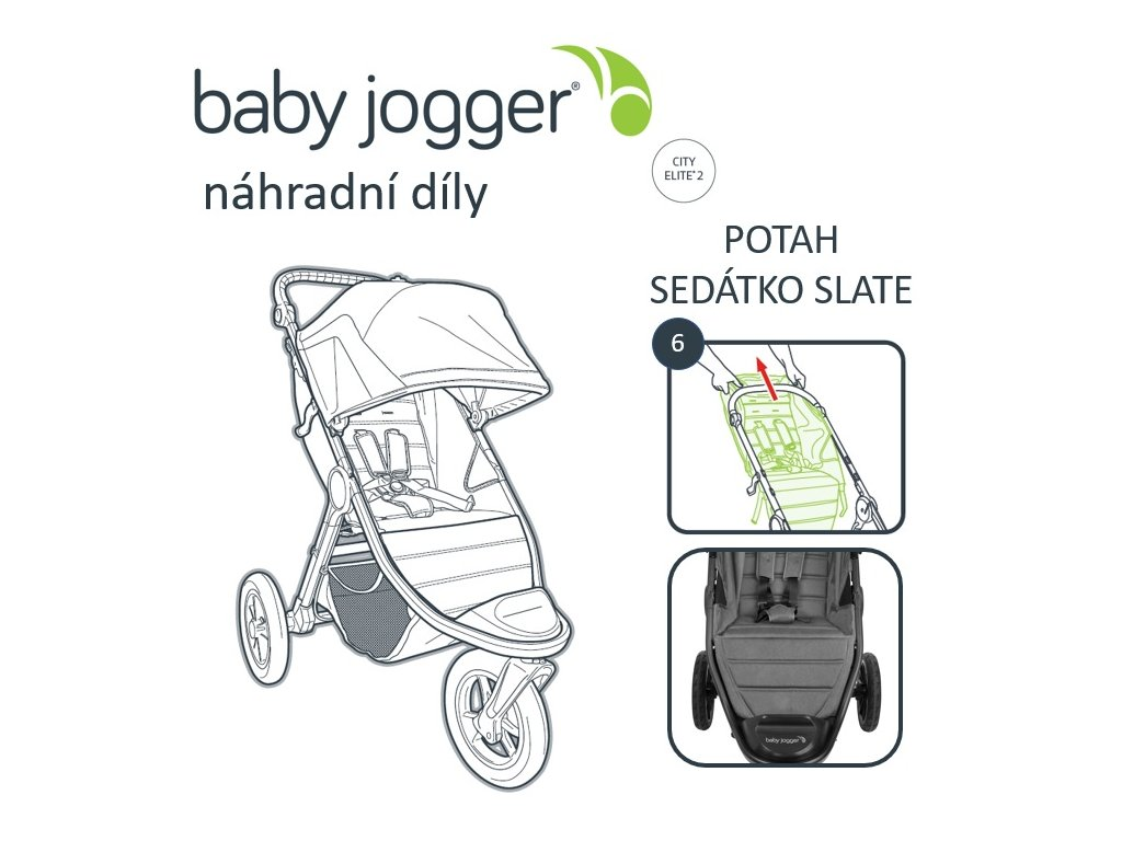 BabyJogger POTAH sedátka CITY ELITE 2 slate