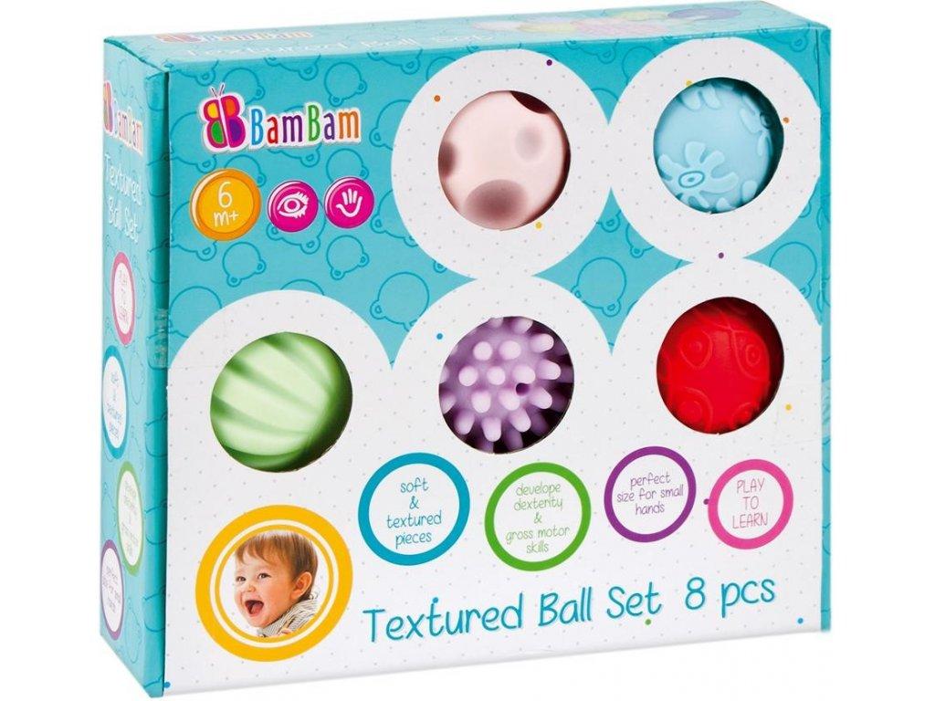 Bam Bam Sada 8 senzorických míčků