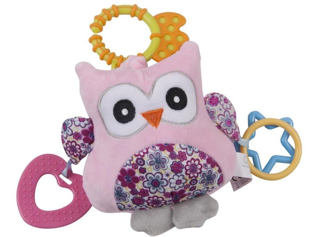 Edukační hračka s vibracemi a melodíí sovička růžová