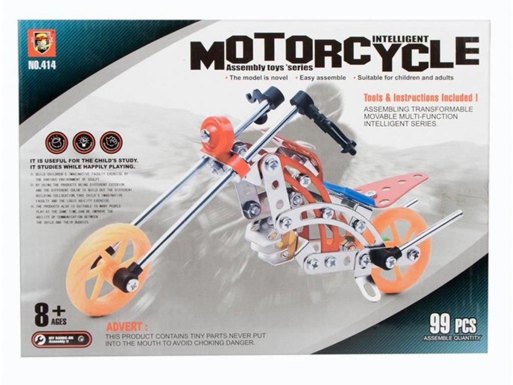 Kovové stavební bloky 99 prvků motocyklu MEGA CREATIVE 440952 Kovové stavební bloky 99 prvků motocyklu MEGA CREATIVE 440952