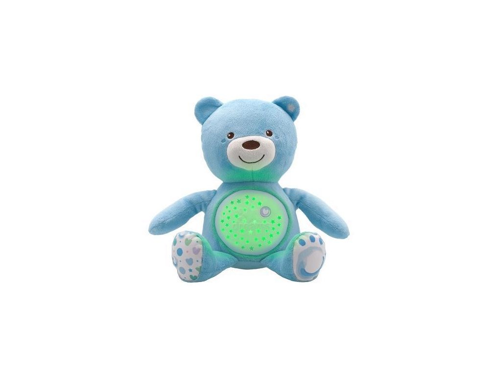 Hračka medvídek s projektorem - modrá