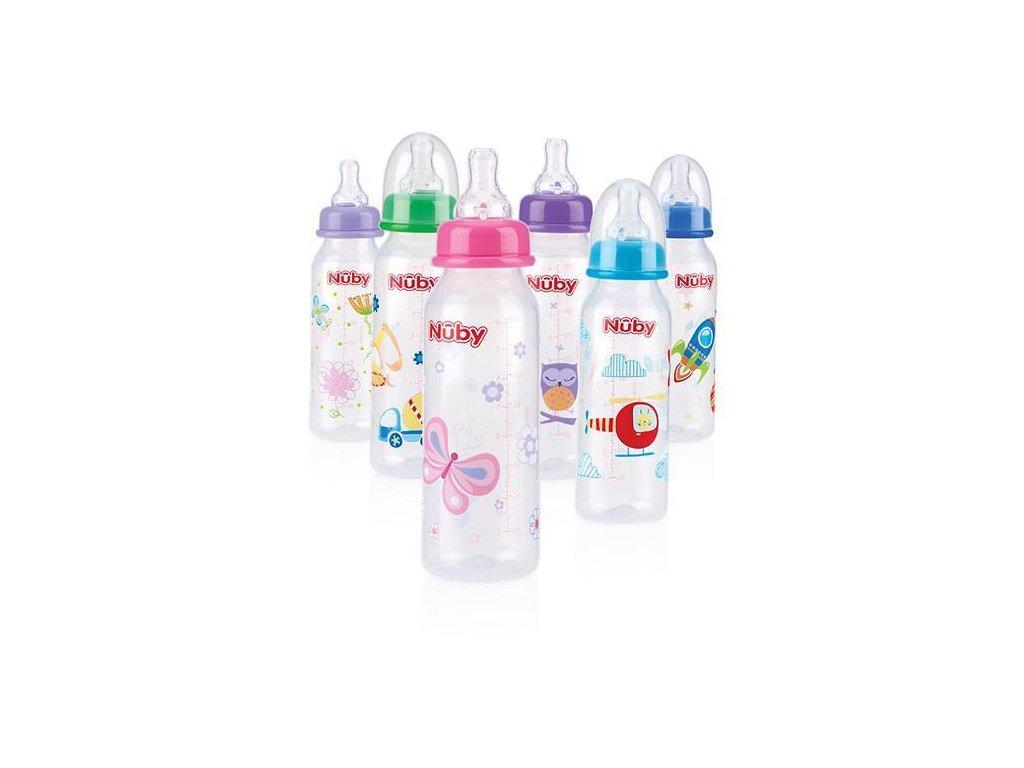 Láhev kojenecká 1-2-3 průtok 240ml, 0-12m+