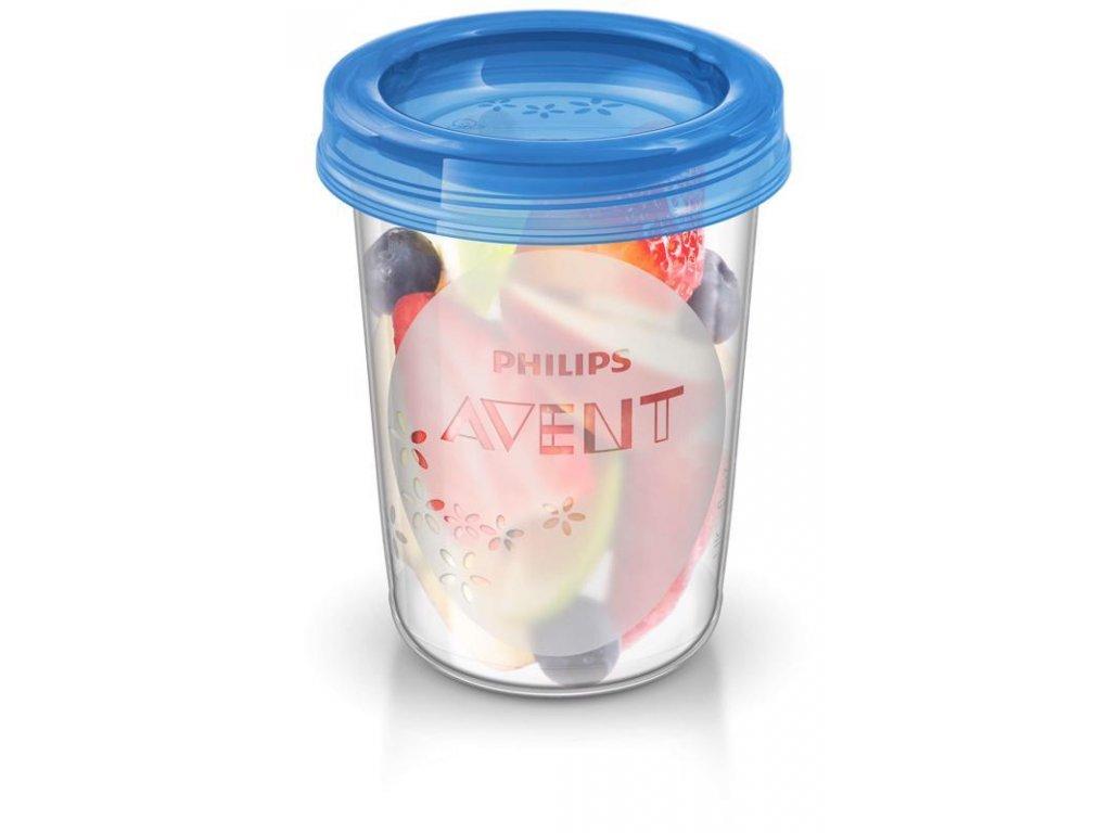 VIA pohárky s víčkem 240ml - 5ks