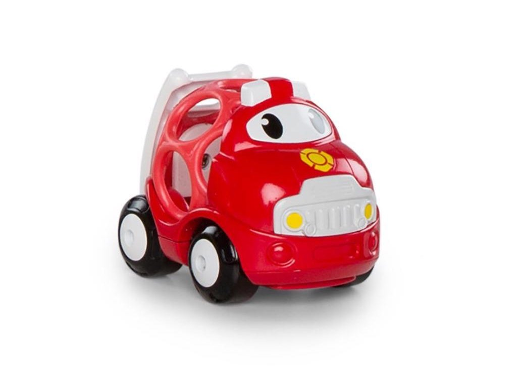 Hračka autíčko hasičské Sam Oball Go Grippers 18m+