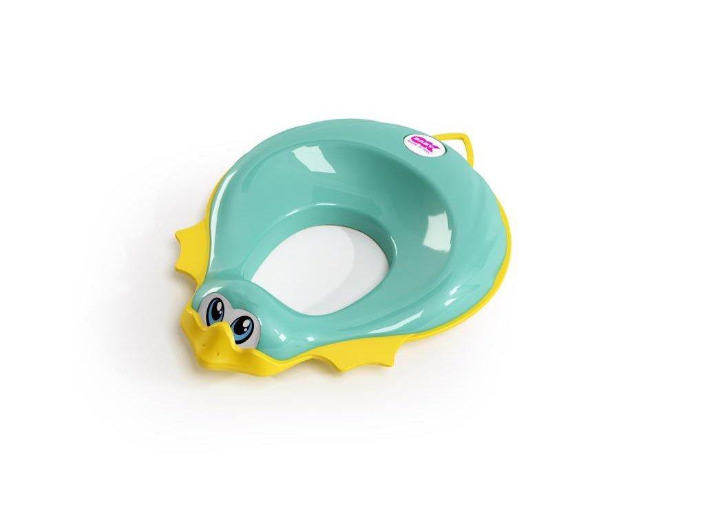 Redukce na WC Ducka tyrkysová 72