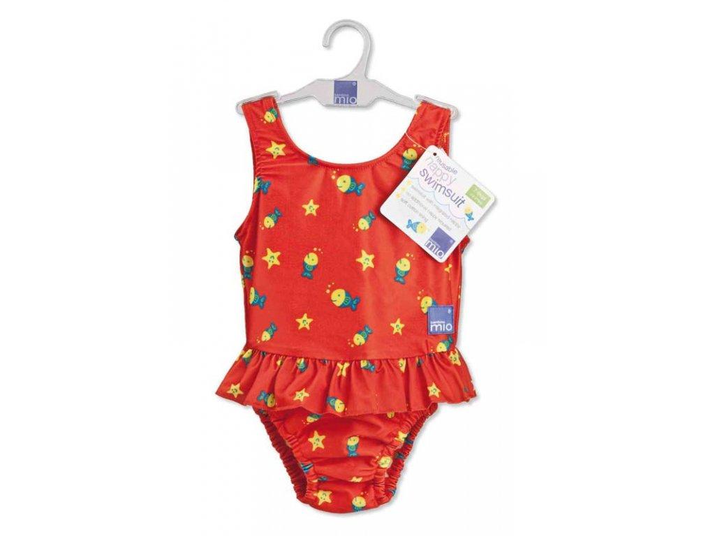 Bambino Mio Dívčí plavky vcelku Red Fish v.L