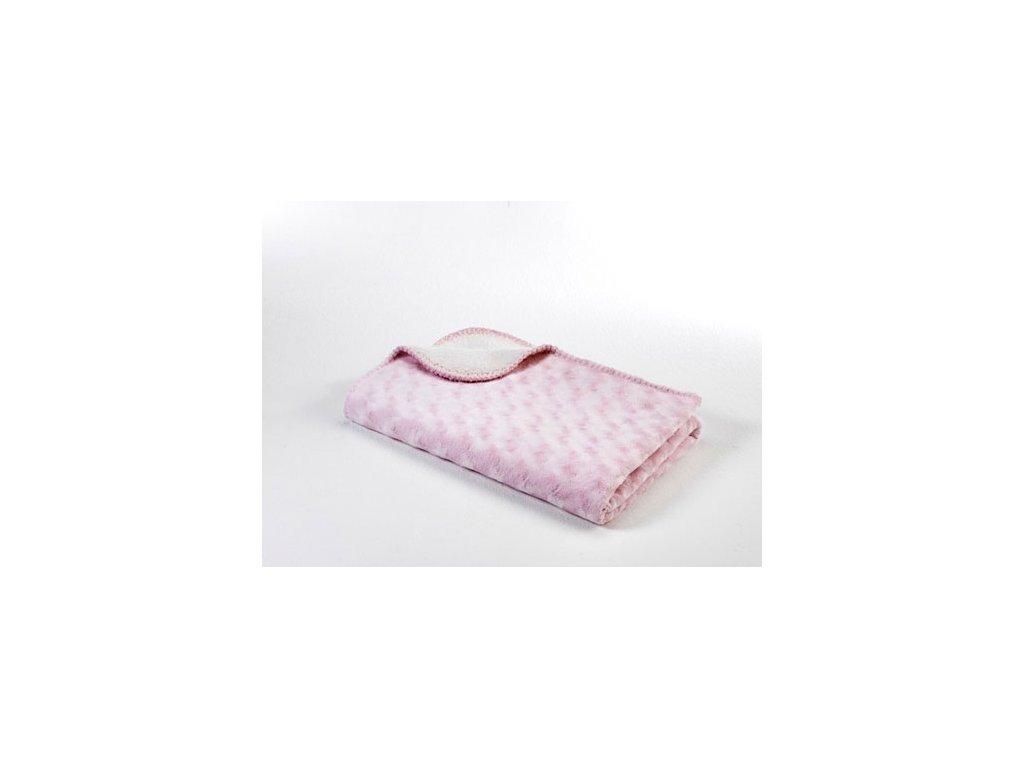 Baby Dan Dětská deka double fleece oboustranná 75x100 pink