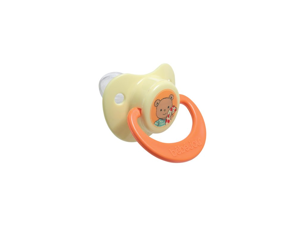 Bebe-Jou Dudlík-silikon 6+M Bébé-Jou BBear žlutý