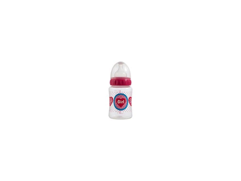 Bebe-Jou Široká lahvička Bébé-Jou Girl 250 ml