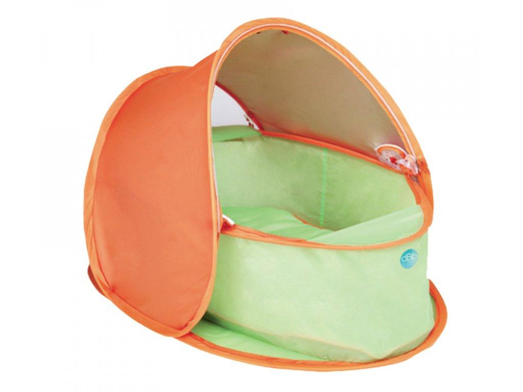 dBb Remond dBb Cestovní hnízdo s ochranou UV, oranžovozelená