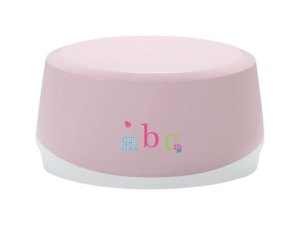 Bebe-Jou Dětské Protiskluzové stupátko ovál Bébé-Jou ABC světle Růžová
