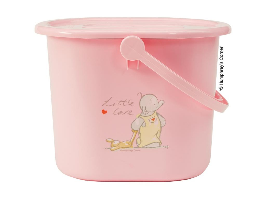 Bebe-Jou Kyblík na pleny s víkem Bébé-Jou Humphrey růžový