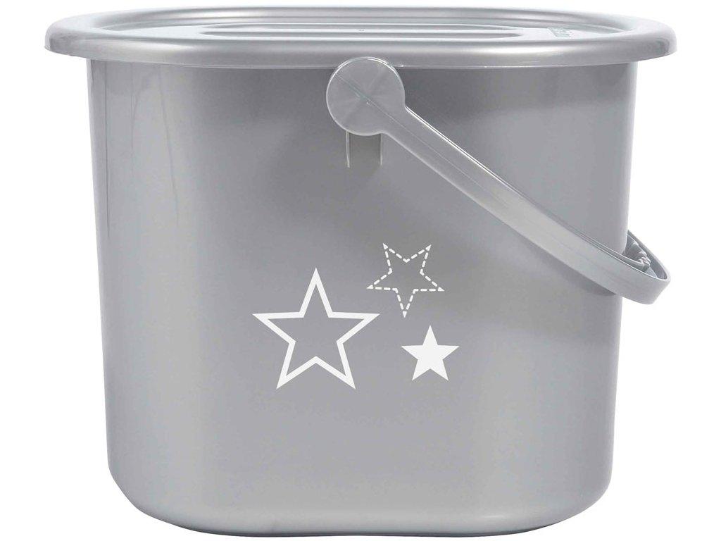Bebe-Jou Kyblík na pleny s víkem Bébé-Jou Silver Stars