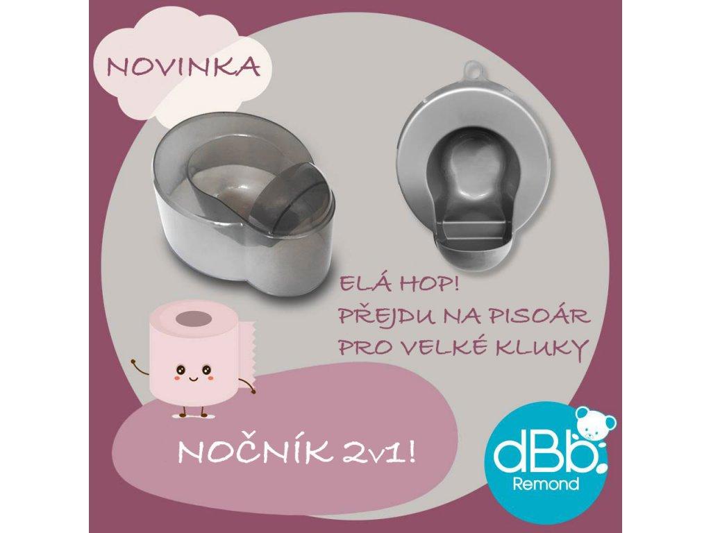 dBb Remond dBb Dětský nočník a pisoár, 2v1, trAnsparetní šedá