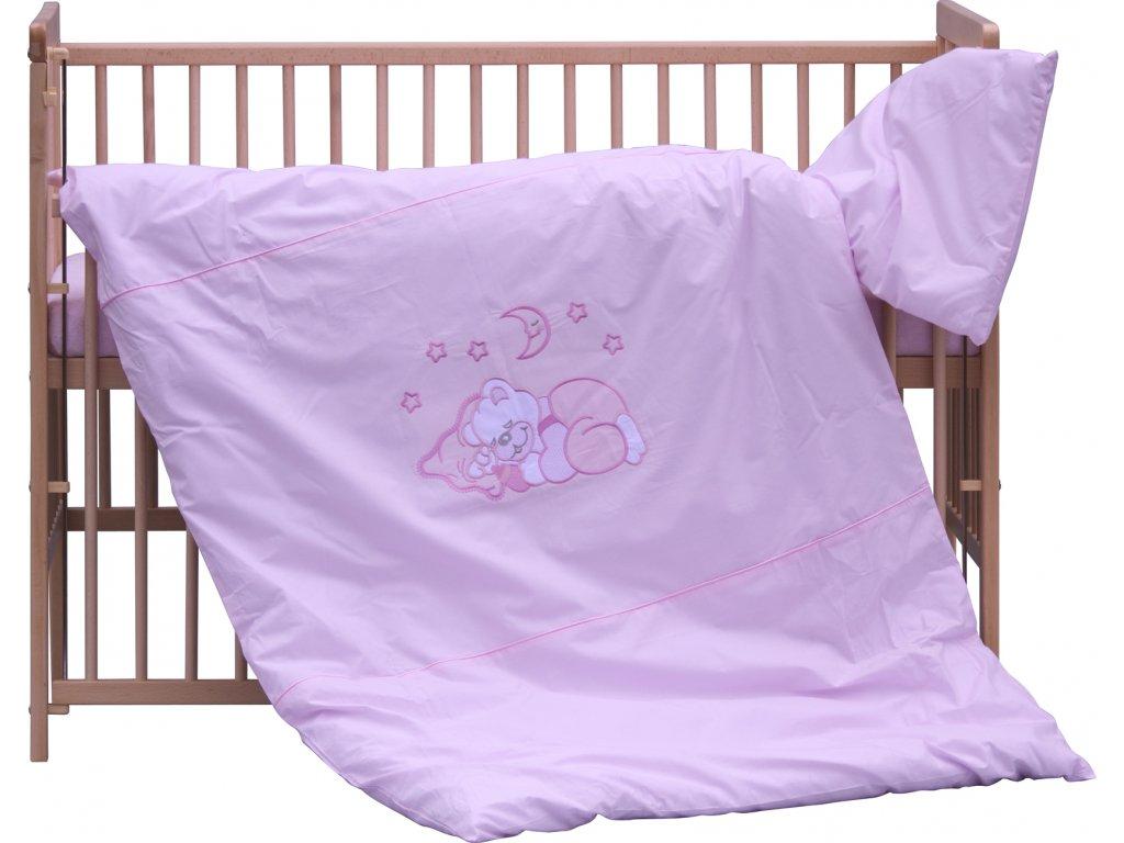 Dětské povlečení 2dílné - Scarlett Měsíček - růžová 100 x 135 cm