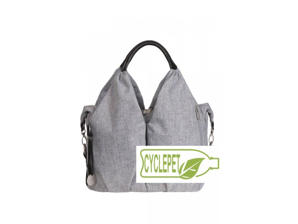 0f4339c02b Green Label Neckline Bag black mélange - BABY-LINE
