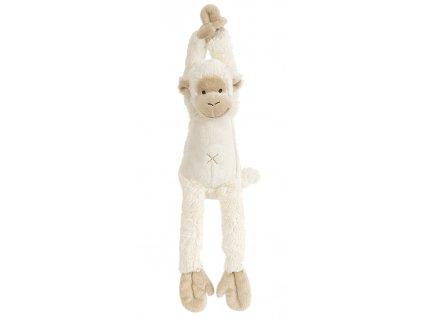 Happy Horse | hudební opička Mickey smetanová  Velikost: 40 cm