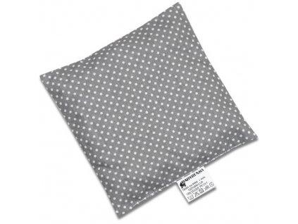 Babyrenka nahřívací polštářek 15x15 cm z třešňových pecek Dots grey