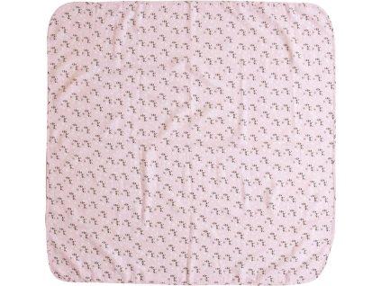 Mušelínová plenka 110x110 cm Luma Racoon Pink