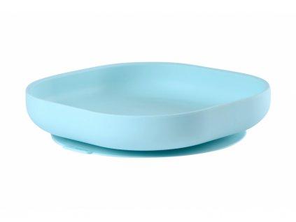 Talíř silikonový s přísavkou Blue