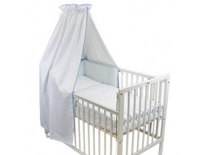 Babyrenka povlečení do postýlky čtyřdílná sada 40x60, 90x130 cm Palina blue 4D28M271260
