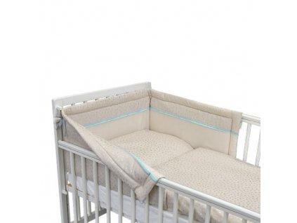 Babyrenka Povlečení třídílná sada 40x60, 90x130 cm Silver Stars
