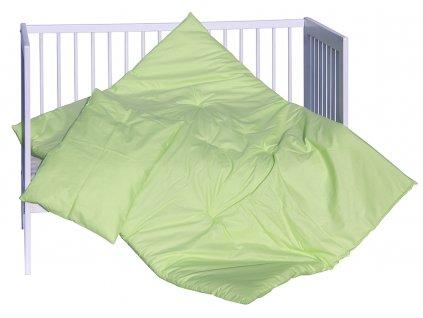 SET peřinka + polštář Scarlett Vega - zelená 100 x 135