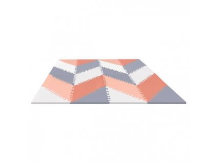 Puzzle pěnové - šedo-oranžové 72ks -10m+