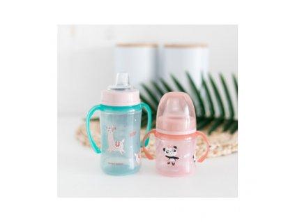 Canpol babies Tréninkový hrníček Sweet Fun 120 ml růžový