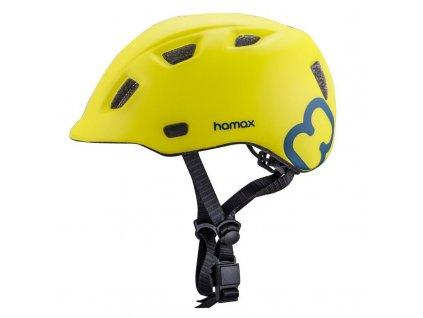 Cyklohelma Thundercap zelená / modré pásiky 52-57