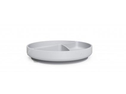 Talíř silikon,s přísavkou,quiet grey