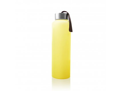 Láhev sklo,na vodu,400ml,bright yellow