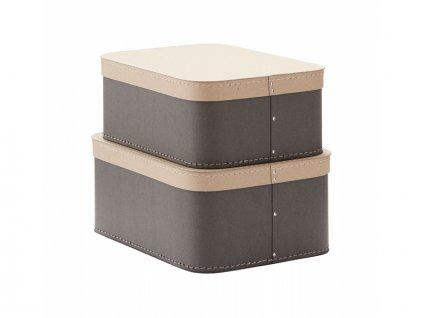 Krabice 2 ks Grey