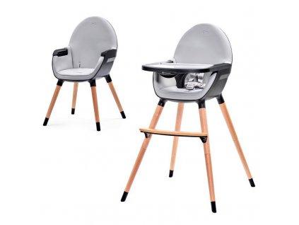 Židlička jídelní  FINI grey/black Kinderkraft