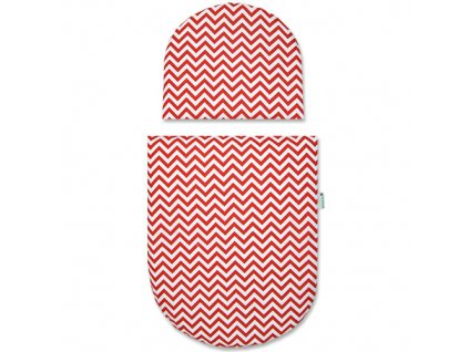 Babyrenka povlečení do kočárku kulaté 35x30,43x52 cm Little Arrows red