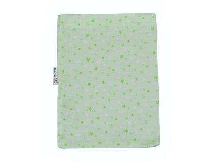 ESITO Žínka bavlna úplet Jersey - 19 x 14 cm / hvězdička zelená