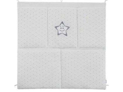 ESITO Kapsář na postýlku hvězdička - 53 x 53 cm / hvězdička šedá ESVYPKAPHVE