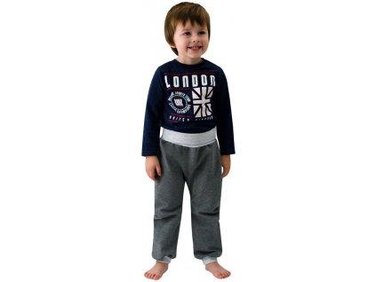 ESITO Dětské tepláky jednobarevné vel. 74 až 86 - 74 / šedá ESTEPPODJBA