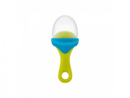 Boon - PULP - Silikonové krmítko zeleno/modré