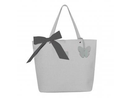 Beztroska Matylda taška s mašlí light grey