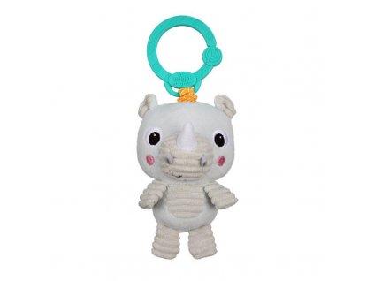Hračka plyšová na C kroužku Take 'n Shake nosorožec 0m+