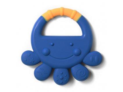 Kousátko silikonové chobotnice Vicky 6m+ modrá