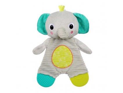 Hračka - kousátko Snuggle&Teethe slon 0m+