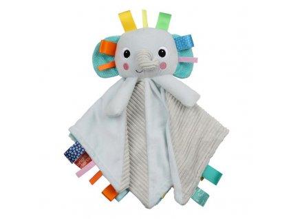 Dečka maznacia s hlavou Cuddle'n Tags slon 0m+  + 8% sleva na další zboží