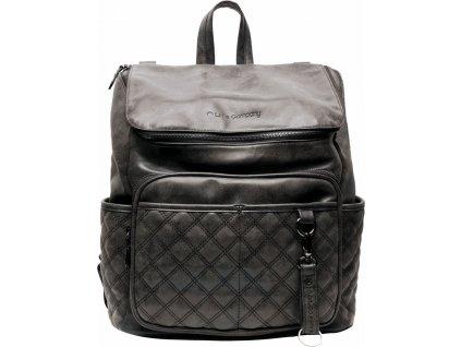 Little Company Přebalovací batoh Lisbon Quilted Black Prošívaný