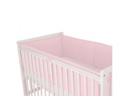 Babyrenka ochranný límec do postýlky 360 cm Uni pink