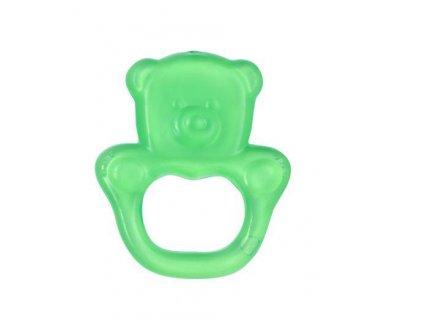 Kousátko chladící medvěd- zelená