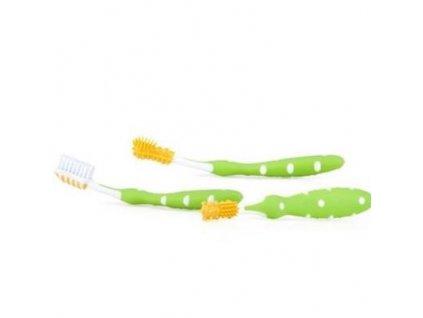 Zubní kartáčky set 3 ks zelená 3m+