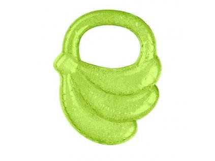 Kousátko chladící banán - zelená